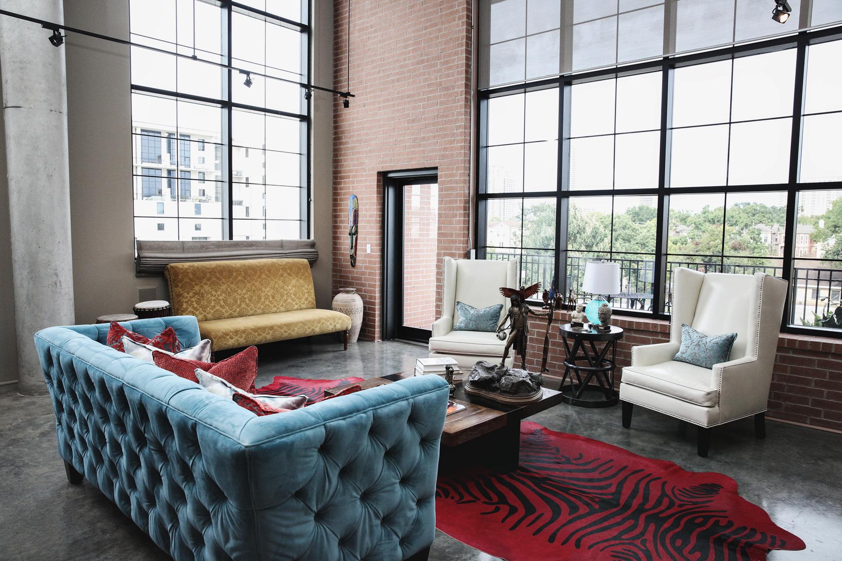 Loft Interior Design Furniture ~ Estrada interior design gotham loft